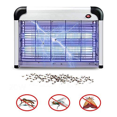 YLKCU Elektronische ongediertebestrijding, sterkste 2800 volt uv-lamp voor binnen, muggenbeschermingslamp voor elektrische schokken thuis, buitenvanger muggen