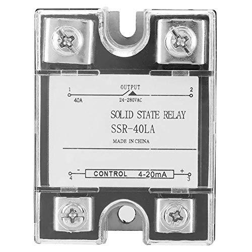 YEESEU Módulo de relé, Módulo de relé de Estado sólido SSR-40LA 40A for el Proceso de automatización Industrial, adecuados for corrosivo, húmedo y Ambiente Polvoriento