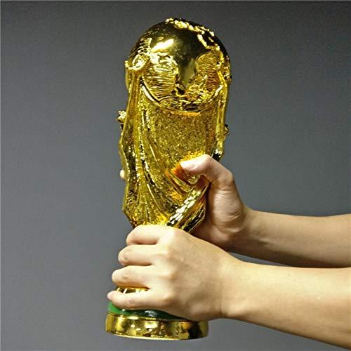 Eeng Tamaño Completo 36cm 1: 1 Titan Cup Two Stars France World Soccer Trophy 2018 Premio al campeón de fútbol francés