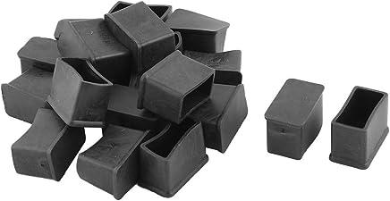 15 mm x 30 mm-Chaise Embouts rectangulaires pour Pieds de Sol 20 pièces