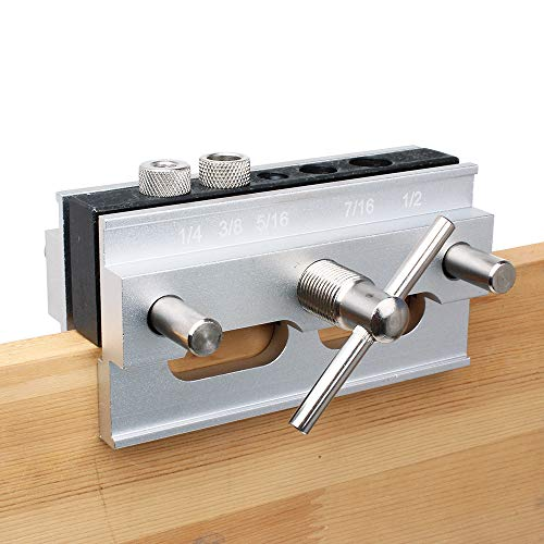 AUTOTOOLHOME Self Centering Doweling Jig Step Drill Guide Bushings Set Wood Dowel Jig Woodworking Joints Tools