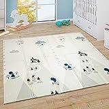 Paco Home Alfombra Juego Gateo Bebé Niños Plegable Lavable Reversible Animales Alfabeto, tamaño:150x200 cm