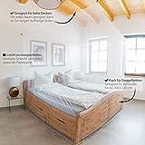 Outdoro Moskitonetz Kastenform inklusive Klebehaken für Reise und Zuhause - extra-groß für Doppelbett & Einzelbett - 3