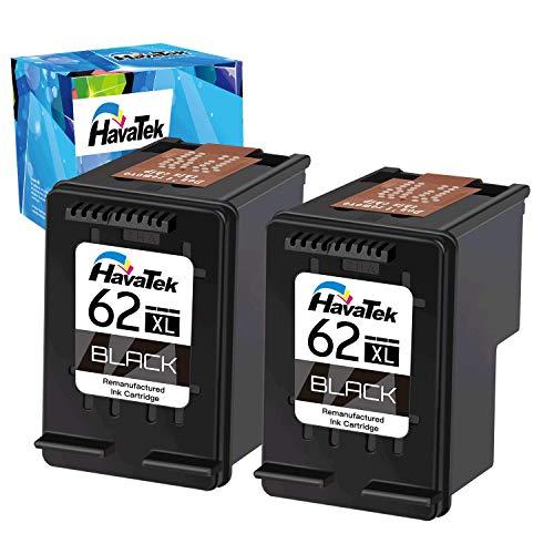 HavaTek Remanufactured 62XL Druckerpatronen für HP 62 XL Black Schwarz Kompatibel mit HP OfficeJet 200 250 5740 5742 5744 Envy 7640 5540 5544 5545 5547 5548 5640 5642 5644 5646 5660 (2 Schwarz) …