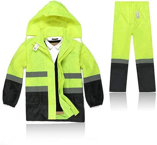 Llsdls Imperméable à Capuche en Plein air imperméable imperméable Costume imperméable Coupe-Vent Coupe-Vent Occasionnel Fermeture à glissière (Couleur   jaune and noir, Taille   XS)