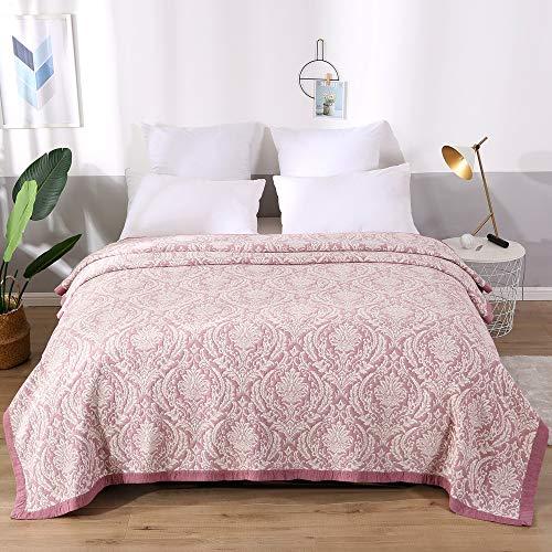 Asvert Quilt Tagesdecke Baumwolle Bettüberwurf Steppdecke Patchwork Sofadecke Kuscheldecke(200 x 230 cm)