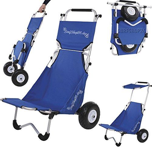 Surfshop24 carrito de playa con asiento y techo para resguardarse del sol
