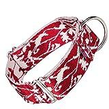 Arppe JACQUARD 4227012060 - Collar educativo, Color Rojo (Granate) y Blanco, 32-49 cm