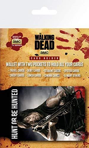 1art1 The Walking Dead, Daryl Dixon Tarjeteros para Tarjetas De Crédito (10x7 cm) Y 1x Pegatina Sorpresa