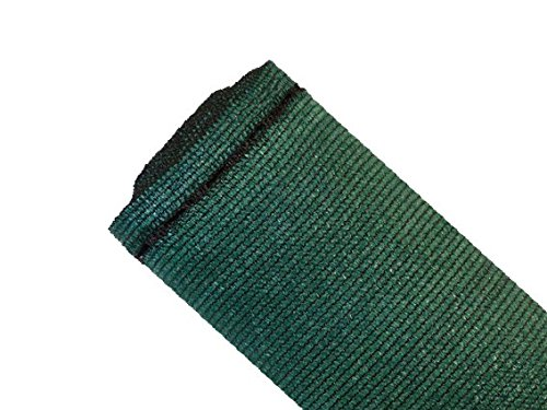MAILLESTORE Brise-Vue 90% - Vert/Noir - 185g/m² - Boutonnières Vert/Noir 1.5m x 10m