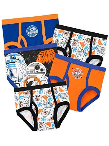 Star Wars BB8 & R2-D2 Slips aus 100% Baumwolle mit elastischem Bund 5er Pack für Jungen 9-10 Jahre Mehrfarbig