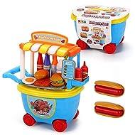 SOKA® BBQ Barbeque Trolley Shop Cart for Children - 29 Pcs BBQ Food Play Set for Kid's Activity & Ea...