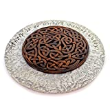 """Celtic designed garden stone with setiment """"there is no strength without unity"""" Made of a durable resin stone material Measures approximately 12 inches in diameter Perfect for your garden or walkway space Contained in protective packaging"""