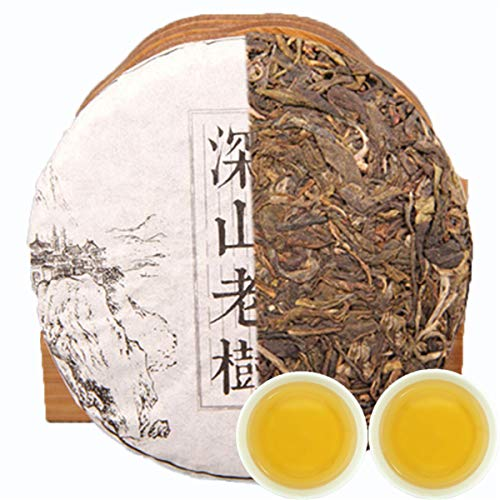 Handmade puer tea プーアル茶りょくちゃ緑茶中国茶飲料茶葉お茶 100g (0.22LB) raw Pu'er tea Chinese ecology old tree organic green puer tea pu erh sheng tea Green tea Chinese tea Puer tea