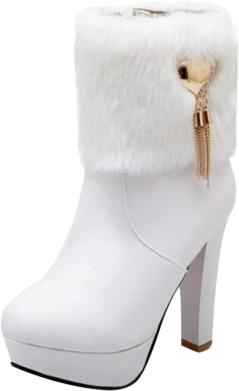 Unm Women Fashion High Heel Ankle Boots Zipper