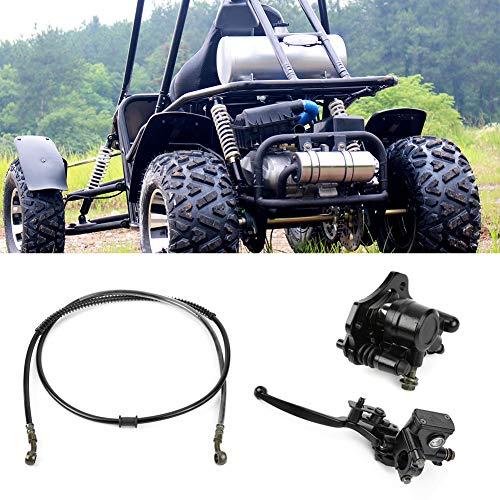 Bremssattelsystem Hydraulische hintere Scheibe Hydraulische Scheibenbremse Hintere Bremssättel Set mit Belägen für Quad Dirt Bike ATV Dune Buggy