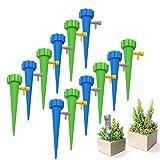 水やり当番 自動給水キャップ 自動水やり器 水遣り器 じょうろ 植物 ガーデニング 盆栽 野菜 分量調節 留守中 園芸 ペットボトル対応 12個セット