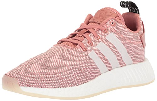 Adidas Women's NMD_r2 Running Shoe Style number CQ2007, 5.5 M US, ash pink/white/white