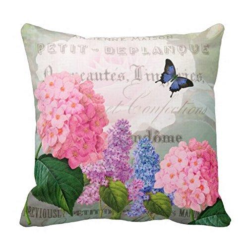 Redoute Flower Garden Pillow