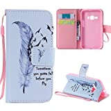 Galaxy J1 2016 Case, J120 Case, Harryshell(TM) Wallet Folio Leather Flip Case Cover with Card Holder for Samsung Galaxy J1 (2016)/ J120F/ J123