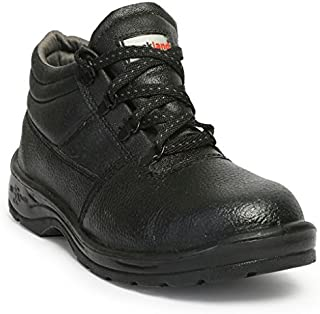 Hillson HLSN_RCKL_7 Rockland PVC Moulded Safety Shoe (Black, UK Size 7)