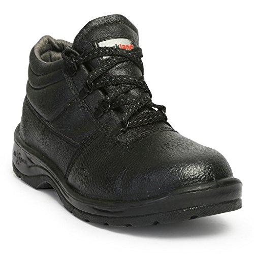 HILLSON Rockland PVC Moulded Safety Shoe (Black, UK Size 8, HLSN_RCKL_8)