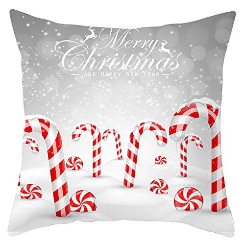 Fundas de Cojines De Navidad,Fundas NavideñAs Para Cojines,Fundas Cojiness Para Sofa,Copos de Nieve Para Arbol De Navidad,CóModo y CáLido,Crea Un Ambiente Festivo,Decora La Sala de Estar,45cm*45cm