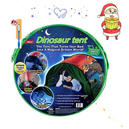 NiLeFo Tienda de campaña para niños PlayTentsPop Up BedtenCastles Regalo de cumpleaños Ropa de Cama decoración (Dinosaurio)