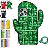 WENLIANG Funda para TeléFono,Juguete Fidget Sensorial con Burbujas De Empuje, DescompresióN Juguete Compatible For iPhone,For iphone7/8p Green