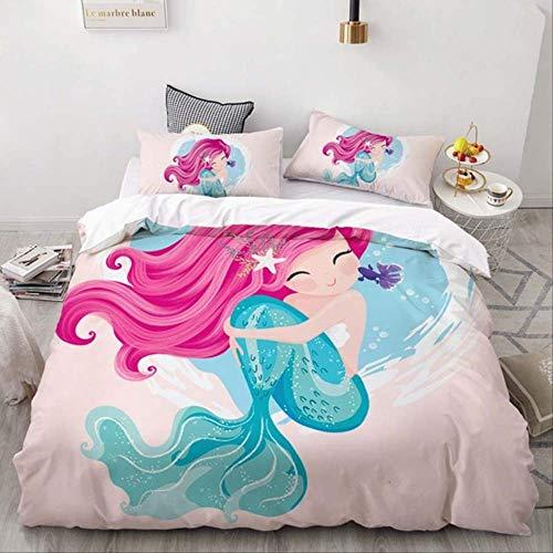 Double Bed Duvet Sets, Bedding Set Home Textile 3D Print Black White Cat Duvet Cover Pillowcase Kids Adult Bedclothes Bed Linen
