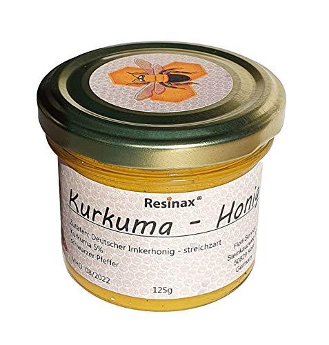 Resinax Kurkuma-Honig für Goldene Milch, Tee oder Brotaufstrich