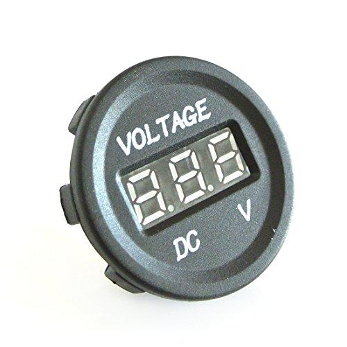 JRL 12-24 V Voiture Moto LED affichage numérique DC voltmètre compteur Imperméable Prise Voltmètre Volts D'affichage Numérique