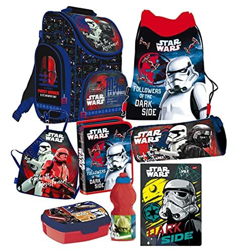 Star Wars Clone 8 Teile Schulranzen Ranzen Tornister Rucksack Tasche Federmappe Set inklusive Sticker-von-Kids4shop