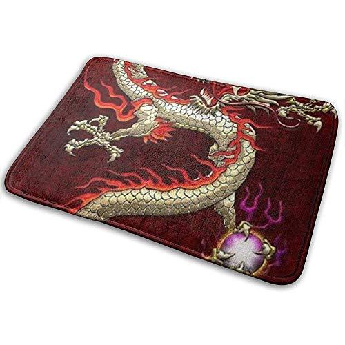 SESILY Brennendes loderndes Feuer-chinesischer Drache-Natur-Fußmatten-Eingangs-Matten-Boden-Matten-Teppich-Badezimmer-Matten