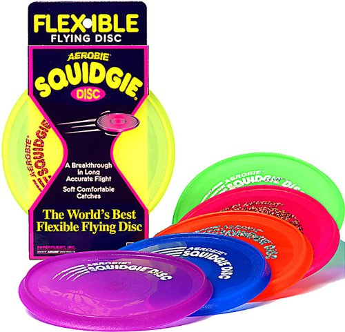 Aerobie Squidgie Disc Glow in the Dark Flying Disc  Colors May Vary