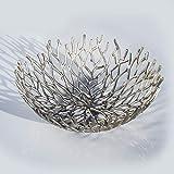 Kaloogo® Obstschale/Brotkorb/Dekoschale aus Metall 42cm (Silber) - 6