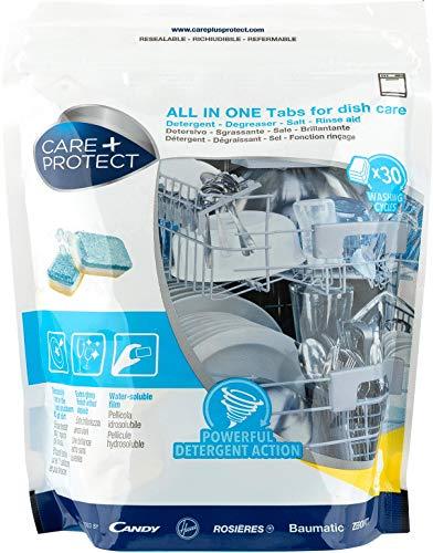 Care + Protect 35602032 Tablettes Tout en Un pour Lave-vaisselle, Blanc