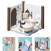 Kit salle de bains Haco Room - Haco Room - Kit salle de bains de David - 72 pièces à assembler - Poupée David, pièce de maison et nombreux accessoires - mini-univers - jeu de construction - 35452