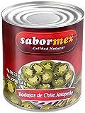 SABORMEX Chile Jalapeño en Rodajas, Producto Natural Sin Conservantes ni Colorantes, Vegano, Bote de 2,8 kg