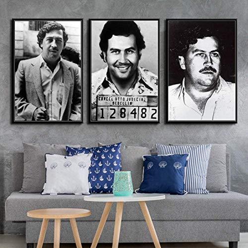 Pablo Escobar Personnage LéGende RéTro Vintage Affiche Et...