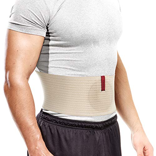 "ORTONYX Premium Umbilical Hernia Belt for Men and Women / 6.25"" Abdominal Binder with Hernia Support Pad - Navel Ventral Epigastric Incisional and Belly Button Hernias - Beige OX5241-3XL Plus Size"