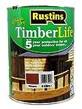 Rustins - Tinte para madera - exterior - Protección UV y 5 AÑOS - Caoba - 12m²/L - 5 Litre (TLMA5000FR)