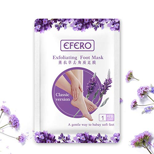 EFERO Foot Peel Lavender Mask(2 Pack), Foot Mask with Lavender,Exfoliating Booties for Peeling Off Calluses & Dead Skin,Exfoliating Feet Mask