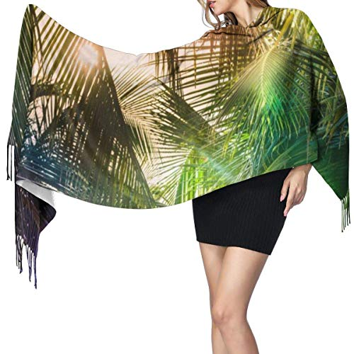Bufanda de mantón Mujer Chales para, Art Palm Moda para mujer Chal largo Invierno Cálido Bufanda grande Bufanda de cachemira