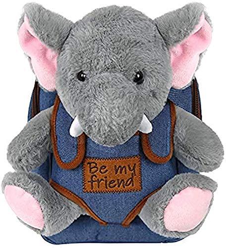 SongJX-Love 2/5 Jahre alt Kinderrucksack Plüschtier Rucksack Mädchen Schule Kindergarten Reise Schultasche 21x27x9 CMB, Farbe: A.Brownbear Gzzxw (Color : F.Elephant)