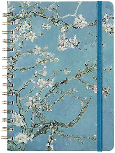 Ruled Journal Notebook Lined Journal 6 3 X 8 35 Hardcover Back Pocket Strong Twin Wire Binding product image