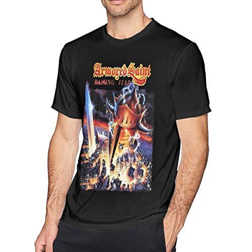 ADKASD Camisetas y Tops Armored Saint Mens Fashion T Shirt Cotton tee Shirts Short Sleeve