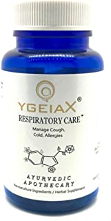 Respiratory wellness,Herbal Respiratory Support, Natural Cold and flu Supplements, 750 mg 60 Vegan caps by ygeiax { Ayurve...