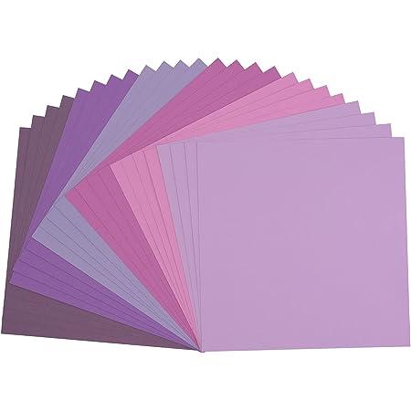 Vaessen creative 2923-003 Florence Papier Cartonné, Couleurs Violettes, 216g, 30,5 x 30,5 cm, 24 Feuilles, Surface Texturée, pour Peindre, Scrapbooking et Plus, Multi