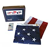 American Flag 6x10 ft. Tough-Tex the Strongest, Longest Lasting Flag , 100% Made in USA with Sewn Stripes, Embroidered Stars and Brass Grommets.